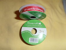 NEW - Dovecraft Grosgrain Xmas Creative Ribban - All I want for Christmas - 2m B