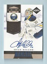 RYAN MILLER 2011/12 LIMITED TEAM TRADE MARKS AUTOGRAPH AUTO /19 SABRES