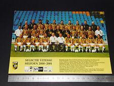 RARE SBV VITESSE ARNHEM NEDERLAND EREDIVISIE VOETBAL 2000-2001 FOOTBALL CPA