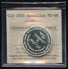2005 Canada Medal (60th Netherlands Liberation) ICCS MS66  Certification# RK 177