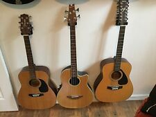 Lot Of 3 Guitars- Applause Acoustic/Electric Bass, Yamaha 12 String, Takamine