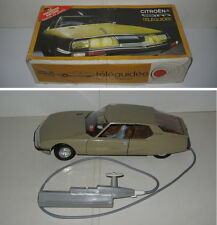 CITROEN SM FILOGUIDEE 1:12 ,JOUETS MONT BLANC,BE,GC,VINTAGE 70s,CABLE CONTROLLED