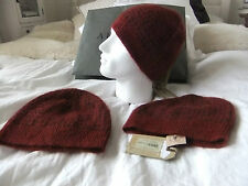 ALL SAINTS SALVATOR BEANIE   BNWT   Berry  wool/mohair blend   Loose Fitting