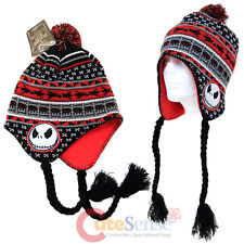 Nightmare Before Christmas Jack Peruvian Beanie NBC Laplander Hat Furry Ball