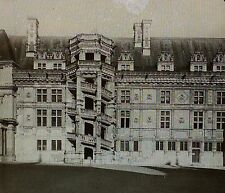 Chateau Courtyard,Blois,France,Wing of Francois I,Magic Lantern Glass Slide