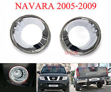 CHROME FOG LIGHT COVER TRIM FOR NISSAN FRONTIER NAVARA D40 PICKUP 05 - 09 07 FIT