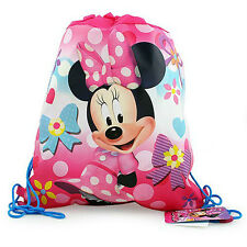 LOT 12 DISNEY MINNIE MOUSE Kids Sling Bag Tote Backpack BIRTHDAY PARTY FAVORS
