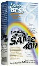 Doctor's Best, SAM-e 400, Double-Strength, 30 Enteric Coated Tablets
