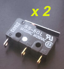 2 x OMRON Limit Switch SS-5GL 5A For 3D Printer etc Basic Switch SPDT