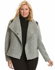 Lane Bryant NEW Gray Boiled Curly Wool Moto Jacket Size 22 24 2X NWT