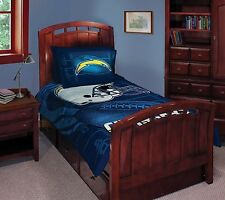 3 Piece NFL Football San Diego Chargers Full/Twin Bedding Comforter and Sham Set