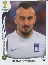 N°221 KOSTAS MITROGLOU # GREECE STICKER PANINI WORLD CUP BRAZIL 2014