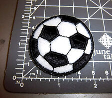 Soccer Ball Iron on Embroidered Patch , cute small patch, great for jerseys!