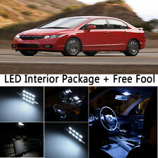 7X Bulb Car LED Interior Lights Package For 2009-2011 Honda Civic Coupe White NQ