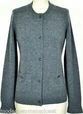 Exquisite Chanel 10A Classic Cashmere Cardigan Jacket Sweater NEW 38 Turnlock