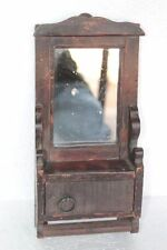 Old Vintage Antique Wooden Handcarved Wood Mirror Frame with Cupboard PU-16