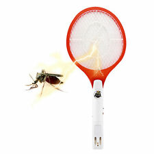 Rechargeable Electronic Mosquito Insect Bug Fly Zapper Swatter Net Racket JS