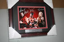NWO MEMBERS KEVIN NASH, SCOTT HALL, XPAC SIGNED FRAMED 8X10 PHOTO WWE/WWF/WCW