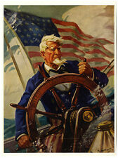 1940s Thos D Murphy Hy Hintermeister Print Uncle Sam Sail on O Ship of State NR