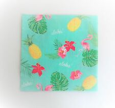 ALOHA LUAU LUNCH NAPKINS MAD HATTER TEA PARTY TABLE DECORATION FLAMINGO HIBISCUS