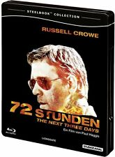 72 STUNDEN, The Next Three Days (Russell Crowe) Blu-ray Disc, Steelbook NEU+OVP