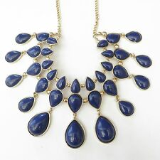 H&M Statement Necklace - NAVY BLUE