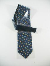 50% sale NWT Fortier blue SILK BUTTERFLY TIE donation Audubon Society Everglades