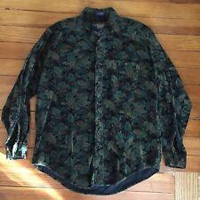 Vintage 90s Ralph Lauren Chaps Paisley Corduroy Shirt Country Cottons Xl Mens