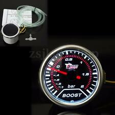 "2"" 52mm Universal Auto Car Smoke Len LED Bar Turbo Boost Vacuum Gauge Meter Dial"