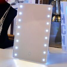 Smart Touch 16 LED Lighted Mirror Beauty Makeup Cosmetic Dimmable Table Mirror 2