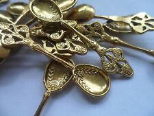 10 x Craft cuillères ~ antique or 60x16mm ~ ~ ~ Charme Bijoux scrapbooking, baptême