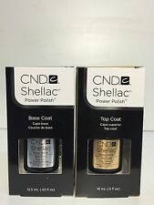 CND Shellac Gel Color BASE COAT & TOP COAT 0.5 oz/ 15 ml- BIG SIZE