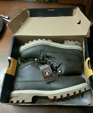 Lugz Mens Regiment WR Thermabuck Work Boots, Slip Resist, Men's 7.5, Choc.-NWT