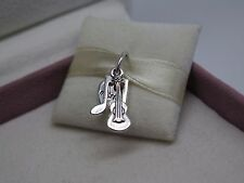 New w/Box & Tags Pandora Music Trinity Dangle Charm #791504EN09 Guitar Note