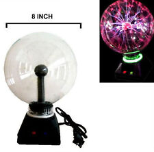 "LIGHTENING PLASMA BALL 8"" novelty lamps lights decor STATIC ELECTIC GLOBE LIGHT"