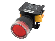 LXG22 ATI Red 22mm Push Button Momentary Switch Illuminated 120V LED 1NC