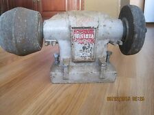 Vintage Wissota Bench Grinder Minneapolis Minnesota with Belt Model BF54S.