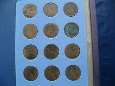 Victoria & Edward II Penny Set 1875 - 1910 in a Whitman folder. 36 Coins.