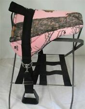 MINIATURE HORSE / SM PONY BAREBACK PAD SADDLE  WITH STIRRUPS - PINK MOSSY CAMO