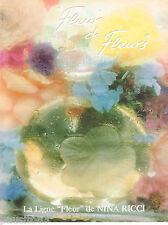 PUBLICITE ADVERTISING 065  1986  NINA RICCI  parfum FLEUR DE FLEUR D. HAMILTON