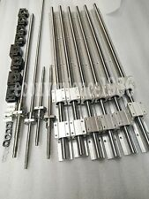 2 x SBR20-800/1500/3000mm linear rail guides & 4ballscrew RM2505 CNC kit