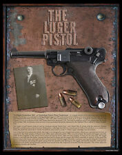 German Luger Pistol VERY COOL Gicleé PHOTO PRINT History Gun NRA Arms Military