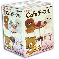 Re-ment San-X Rilakkuma Cafe Table & Chairs Set dollhouse miniature - 140430012