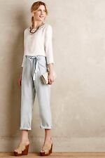 NWT CURRENT ELLIOTT Sz27 THE NEWSBOY CHAMBRAY PAPER BAG TROUSERS JEANS ICE $238.