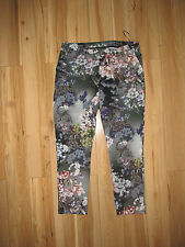 Topshop, paint flower cigarette trousers, size 14.