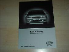 49814) Kia Clarus Preise & Extras Prospekt 10/2000