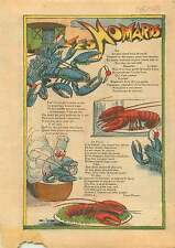 Homard à l'américaine Cuisine Crustacés Restaurants Paris 1933 ILLUSTRATION