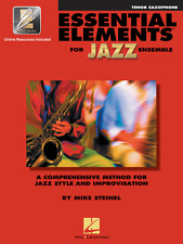 """""""ESSENTIAL ELEMENTS FOR JAZZ ENSEMBLE""""-TENOR SAX MUSIC BOOK W/ONLINE ACCESS NEW!"""