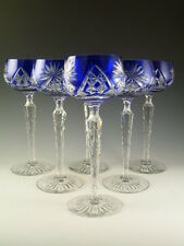 John WALSH WALSH Crystal - Blue Coloured Hock Wine Glasses - Set of 6