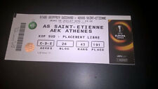 TICKET : SAINT ETIENNE - AEK ATHENES 28-07-2016 EUROPA LEAGUE
